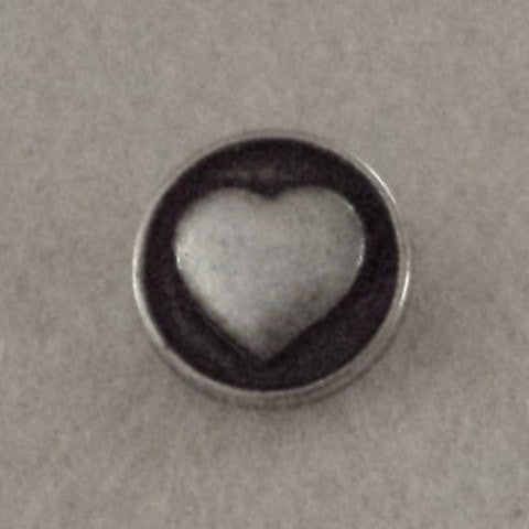 Pewter Heart Button