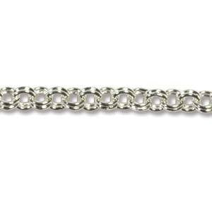 Chain Double Round Silver