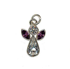 Birthstone angel charm