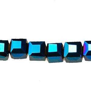 Crystal Cube   Beads                     Blue Light                 4x4