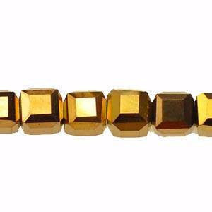 Crystal Cube Beads                Copper           4x4
