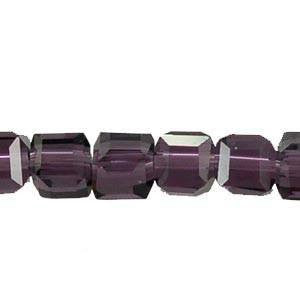 Crystal Cube  Beads     Violet                             4x4