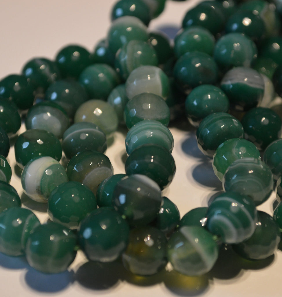 Gemstone - Green Black Banded Agate
