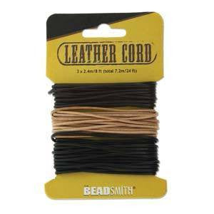 Black-Brown-Natural leather 1.5