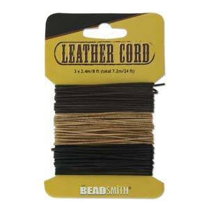 Black-Brown-Natural Leather 1mm