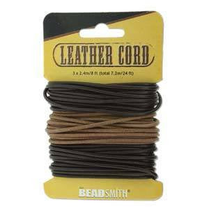 Black-Brown-Natural Leather 2mm