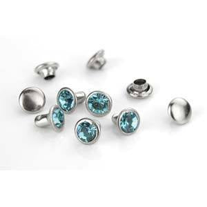 Crystal Aqua Rivets