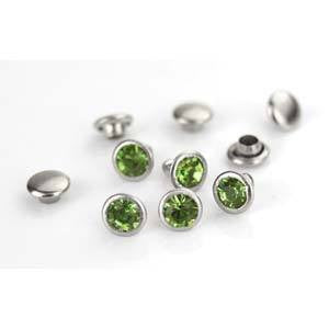 Crystal Lt Green  Rivets