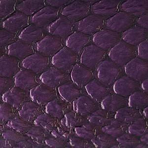 Leather  - Fish Leather Dk Purple