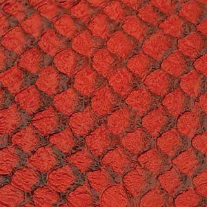 Leather  - Fish Leather Red