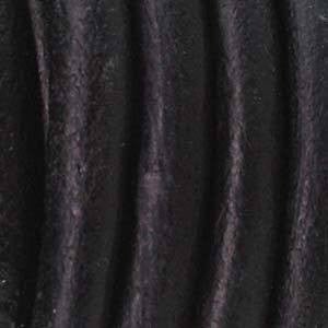 Leather 5mm Natural Dye Black