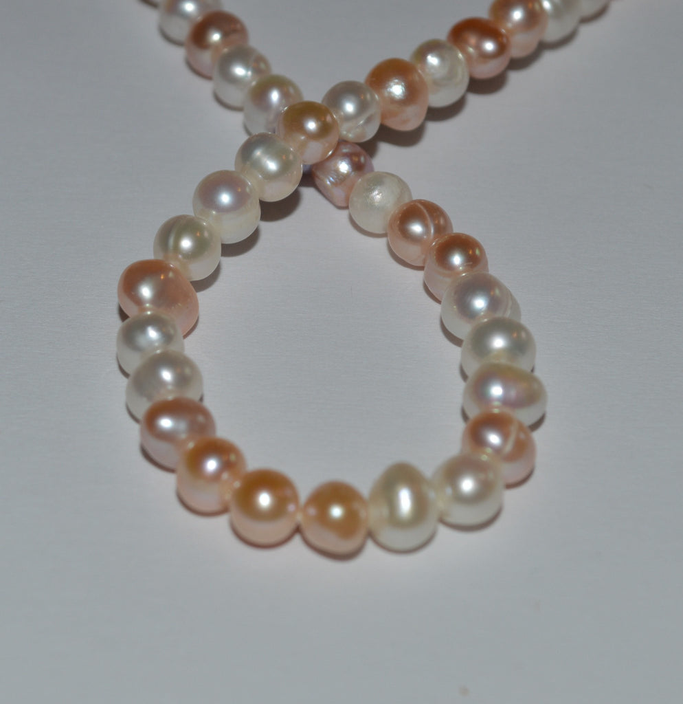 fresh her floating beads wrap boho for bracelet pastel and lampwork pin flower white pearl water pearls