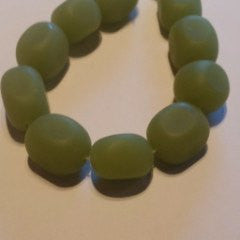Sea Glass Nuggets   Olive Green