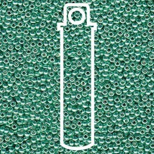 Seed Bead - 15/0 DURACOAT GALVANIZED DK MINT GREEN