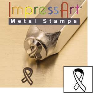 Cancer Ribbon  6MM Stamp