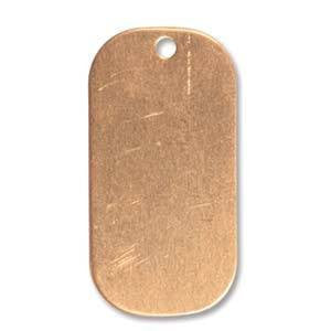 Copper Dog Tag Blank