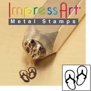 Stamping Supplies - Impress Art Flip Flop Stamp