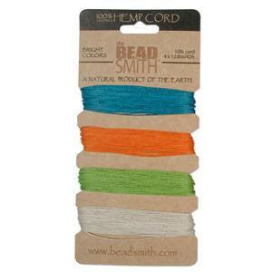 Stringing Material - BeadSmith Bright Colors Hemp Cord Assortment Pack