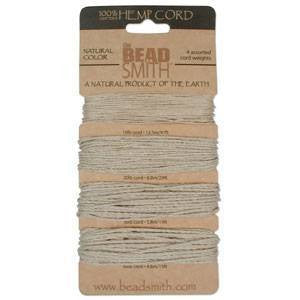 BeadSmith Natural Color Hemp Cord Assortment Pack