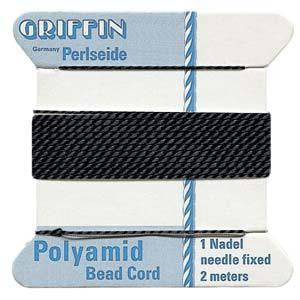 Thread And Cords - Griffin Bead Cord  Black