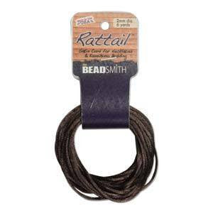 Thread And Cords - Rattail          DKBrown           2mm