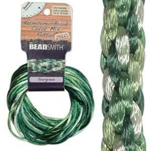 Thread And Cords - Rattail  Evergreen        2mm