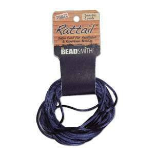 Thread And Cords - Rattail              Navy                                       2mm