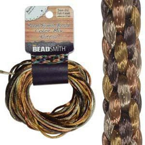 Thread And Cords - Rattail Wheatberry Mix 2mm