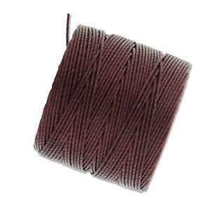 Thread And Cords - S-Lon Burgandy The BeadSmith