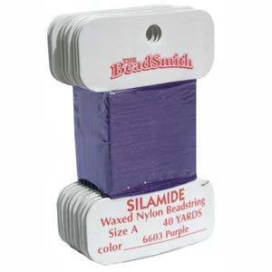 Thread And Cords - Silamide Thread  Purple