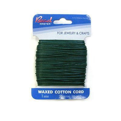 Waxed Cotton Dk Green               1mm&2mm