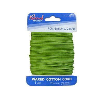 Waxed Cotton Green              1mm&2mm