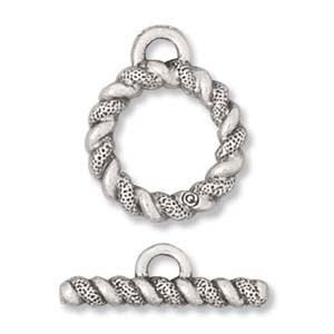 Braided Silver Toggle