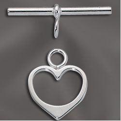 Silver Filled Heart Toggle