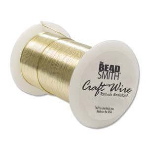 Wire - BEADSMITH Craft Wire Gold 24gauge