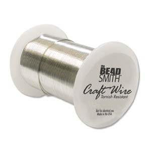 Wire - BEADSMITH Craft Wire Silver 22gauge