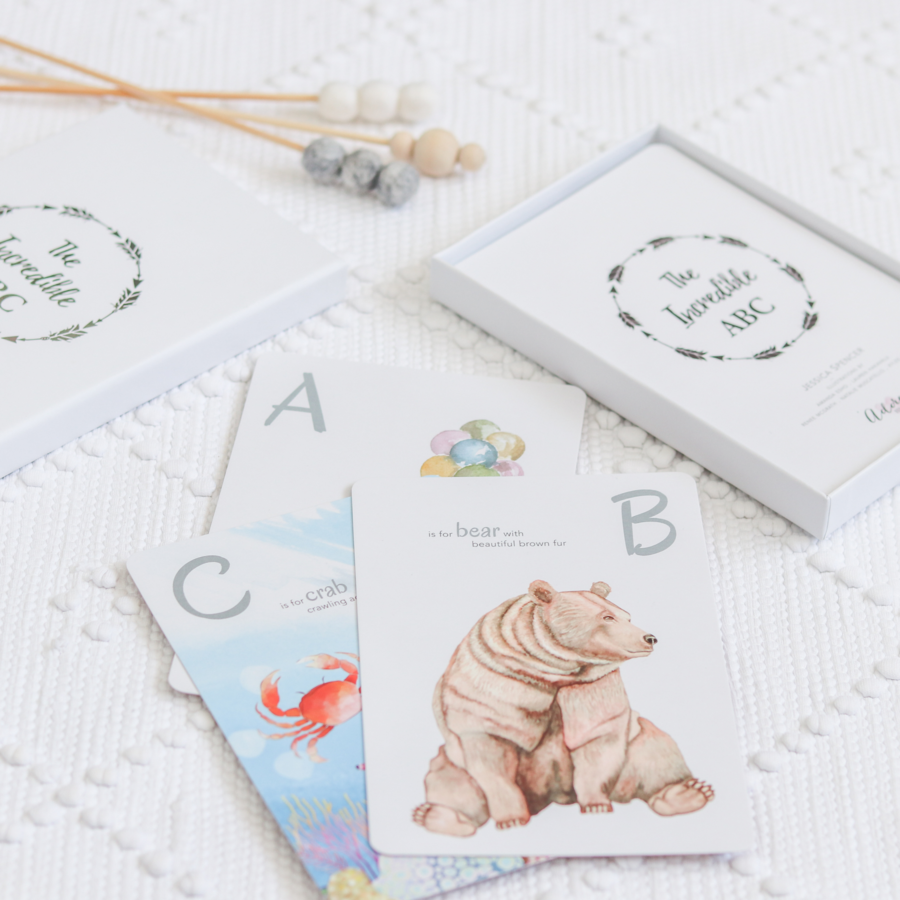 Adored Illiustrations - The Incredible ABC Flash Cards