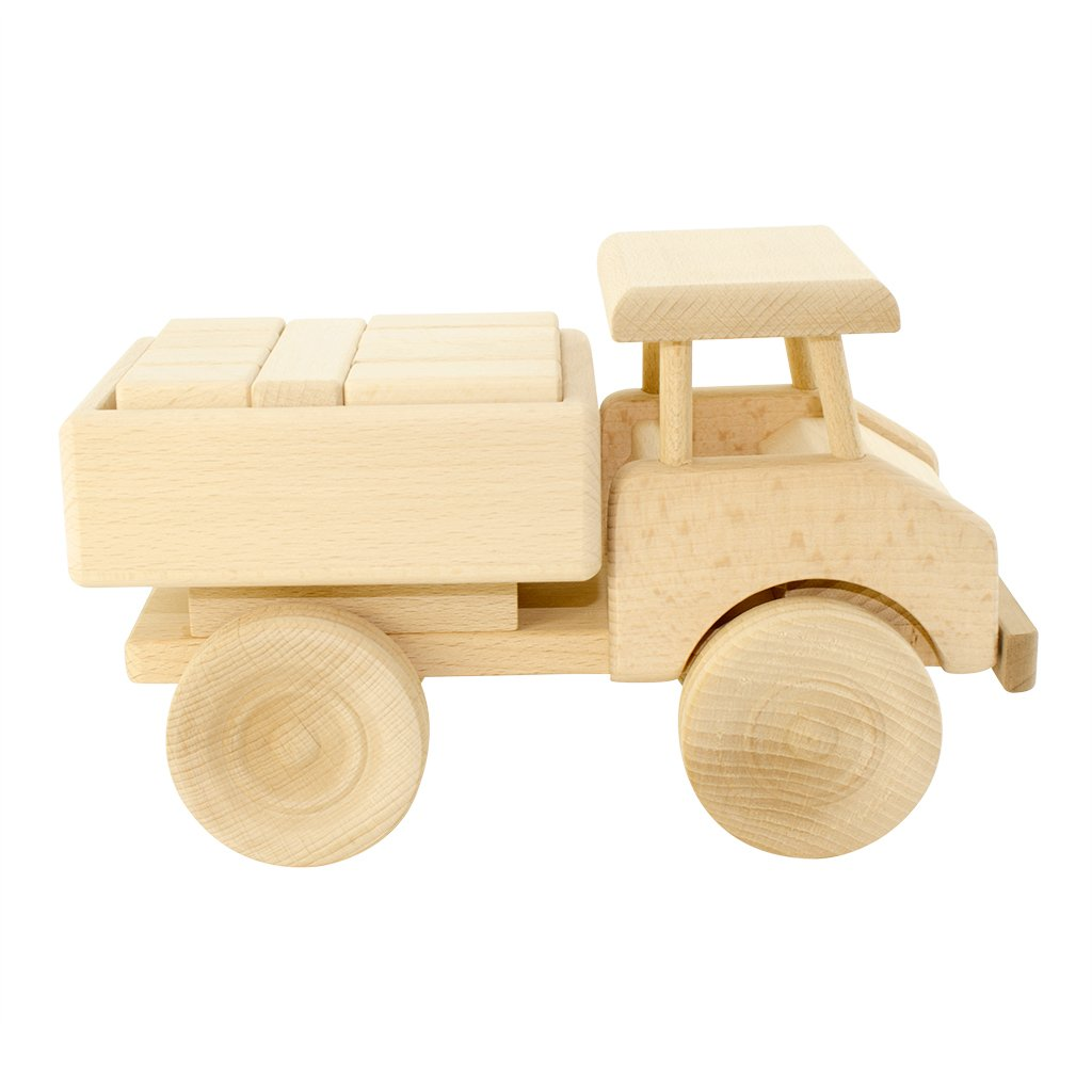 Wooden Toy Truck with Blocks - Darby