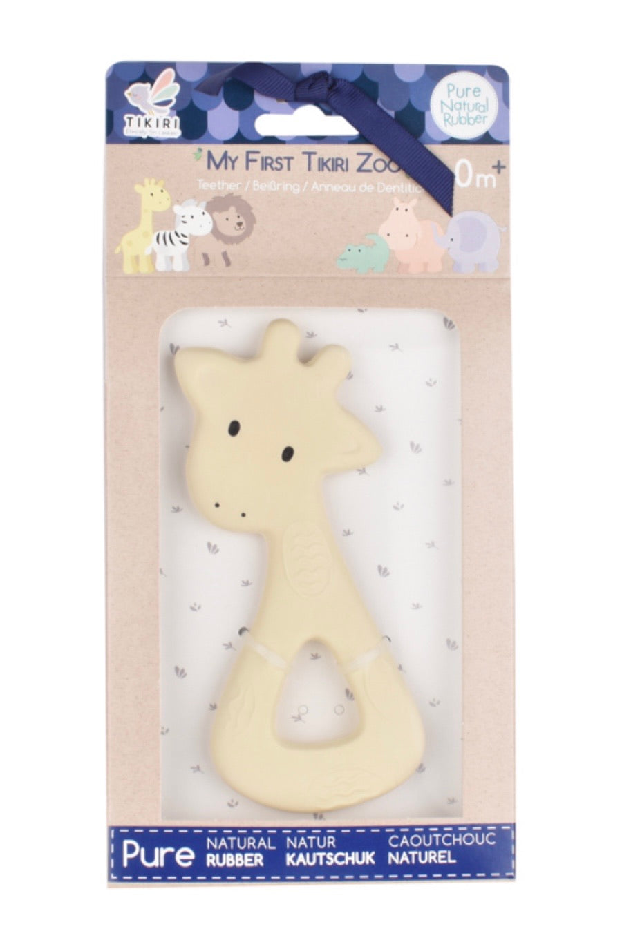 Rubber Giraffe Teether - Tikiri