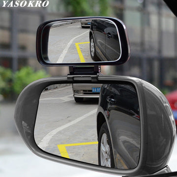 YASOKRO Car Blind Spot Mirror Wide Angle Mirror Adjustable Convex Rearview Mirror for Safety Parking Car Mirror YSR039