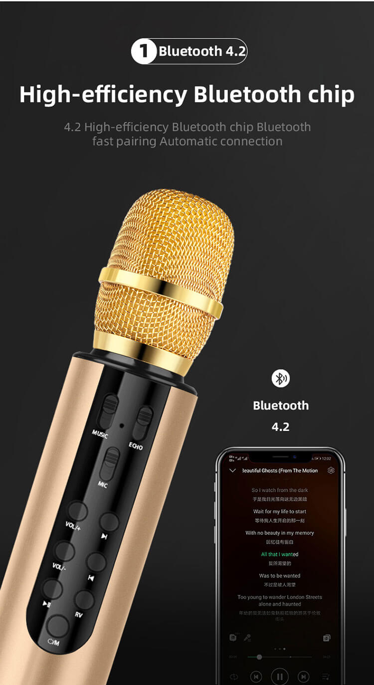 Karaoke Wireless Bluetooth Microphone