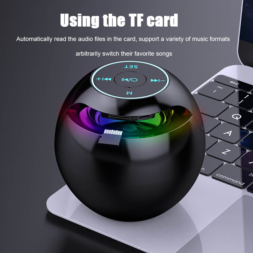 Wireless-Portable-Sphere-Clock-Bluetooth-Speaker-Details-1
