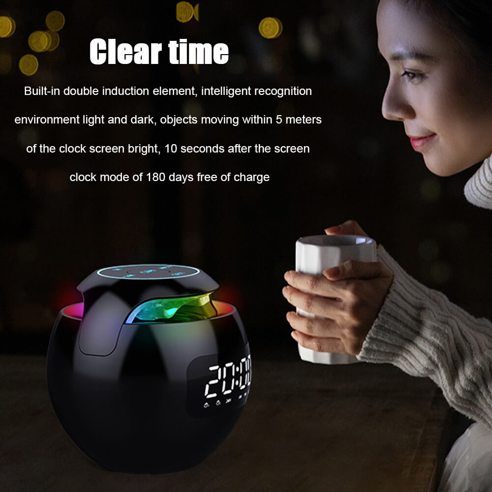 Wireless-Portable-Sphere-Clock-Bluetooth-Speaker-Details-2