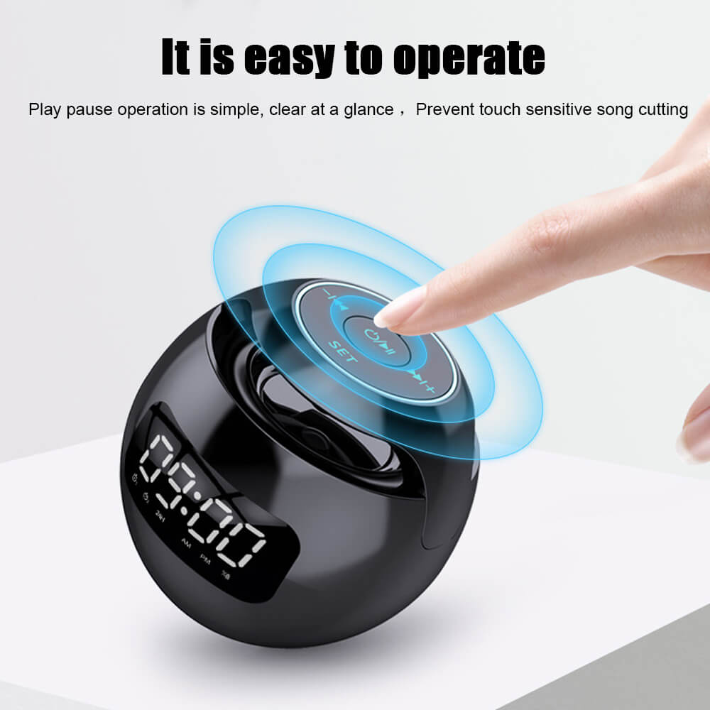Wireless-Portable-Sphere-Clock-Bluetooth-Speaker-Details-4