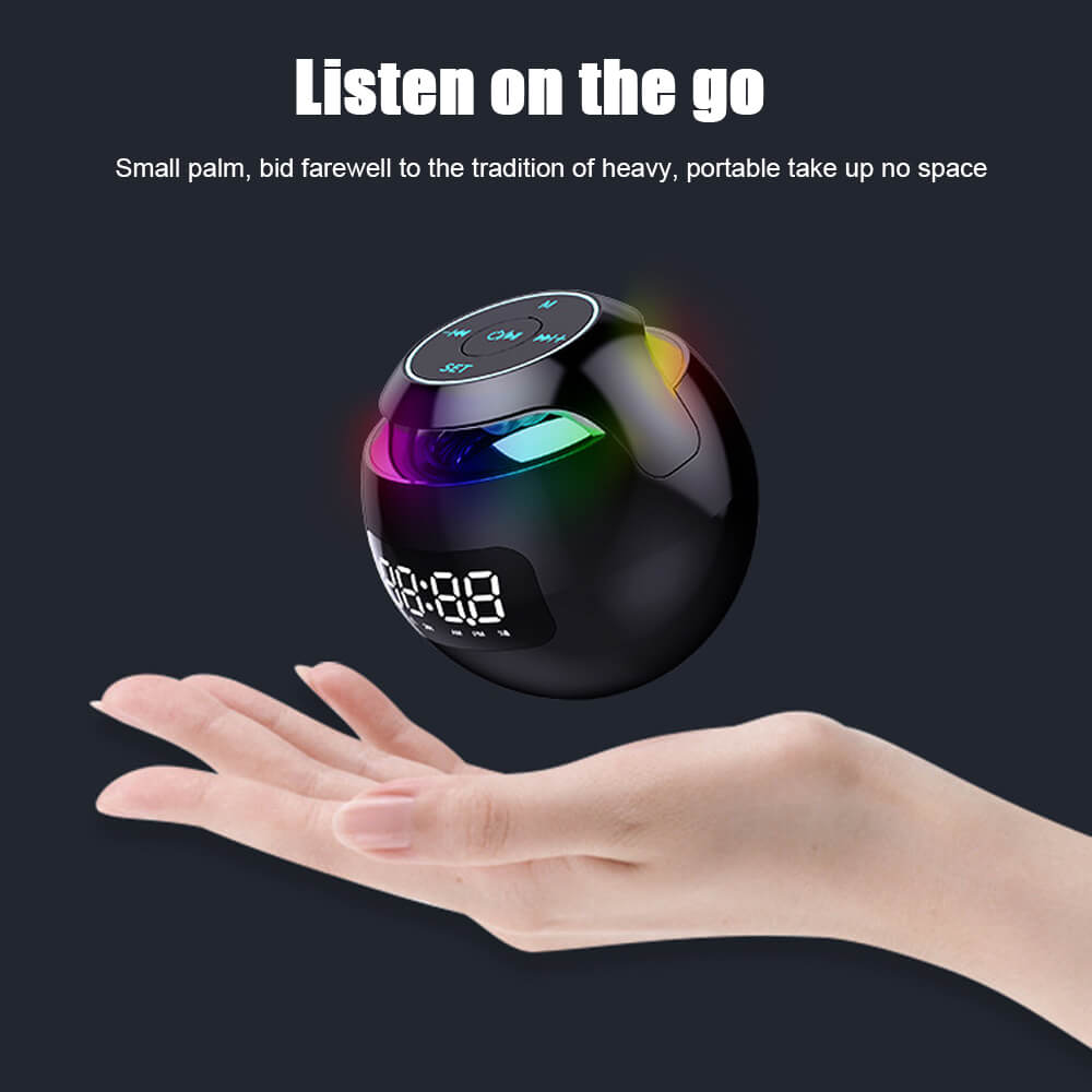 Wireless-Portable-Sphere-Clock-Bluetooth-Speaker-Details-6