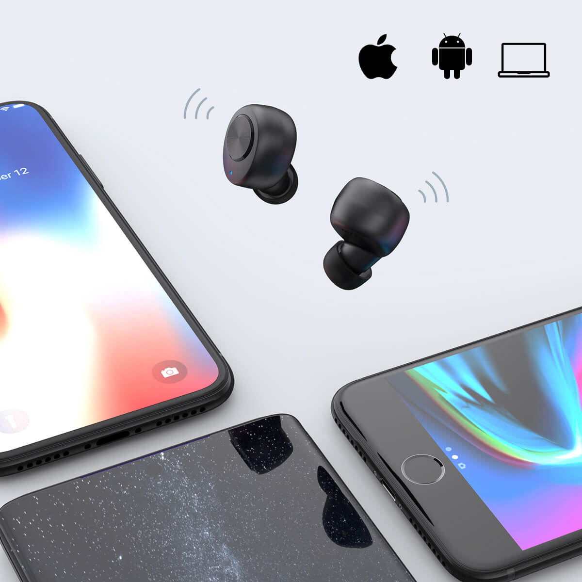 Headphone Bluetooth connection display