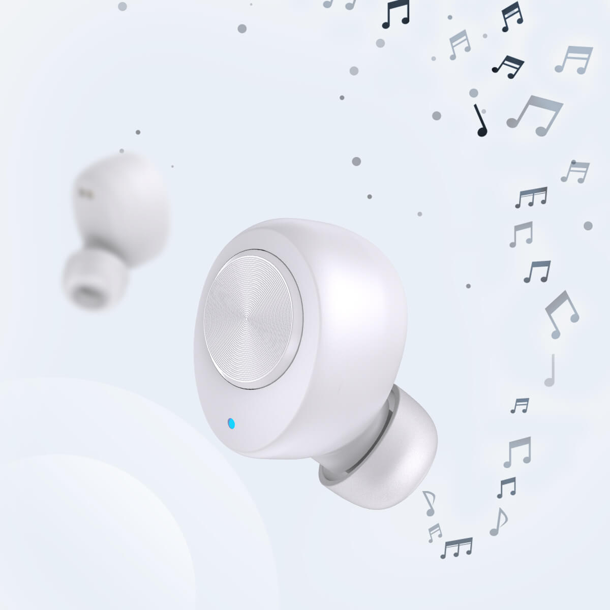 White EA8 Earbuds