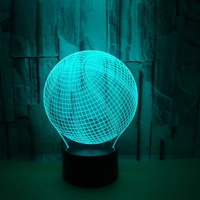 Basketball 3D Colorful Lamp