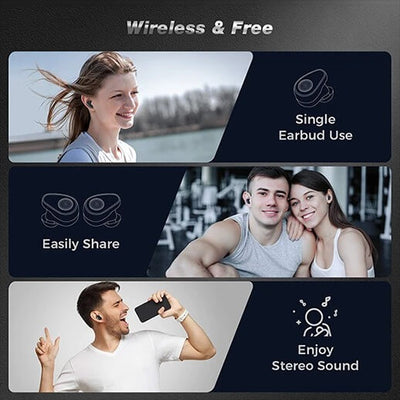 Arbily Wireless Earbuds Headphones F8