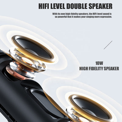 Wireless Bluetooth Microphone Live Broadcast With Speaker